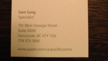 Apple heeft een werknemer genaamd Sam Sung