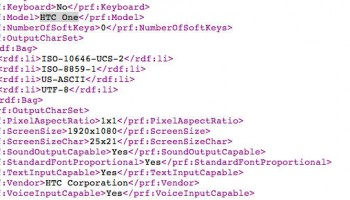 HTC One gespot in user-agent profiel