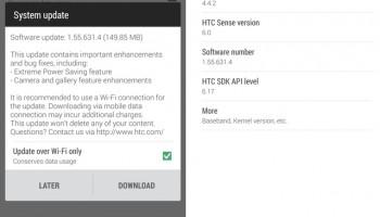 HTC One (M8) ontvangt kleine software update