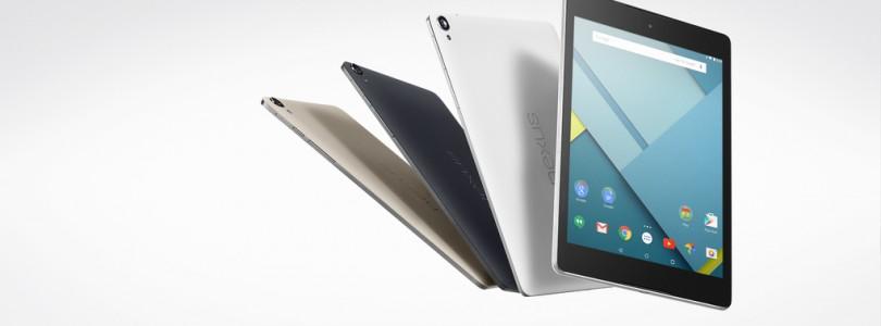 Nexus 9 nu ook beschikbaar in zandkleur