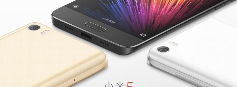 Xiaomi Mi 5 met 5,2″ scherm en Snapdragon 820 officieel aangekondigd