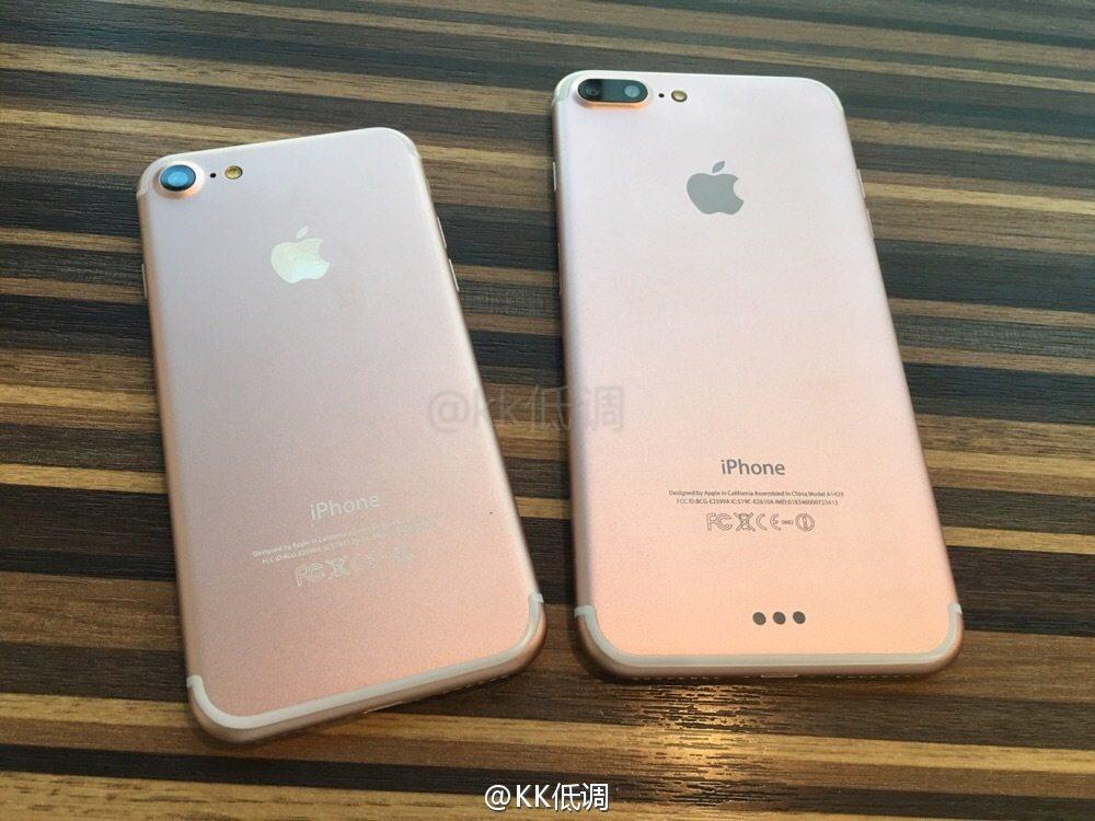 foto s tonen voor  en achterkant iphone 7 en iphone 7 plus