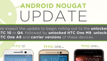 HTC 10 krijgt volgend kwartaal Android 7.0 Nougat, One A9 en M9 volgen later
