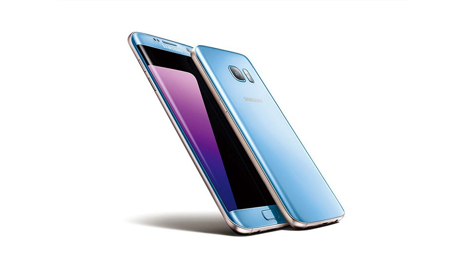 foto 39 s tonen samsung galaxy s7 edge in blue coral