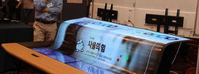LG toont transparant en oprolbaar 77-inch oledscherm
