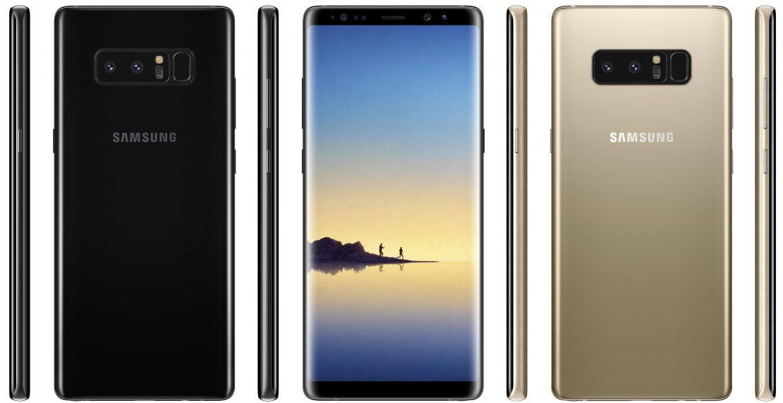 'Samsung Galaxy Note 8 voorzien van drukgevoelig scherm'