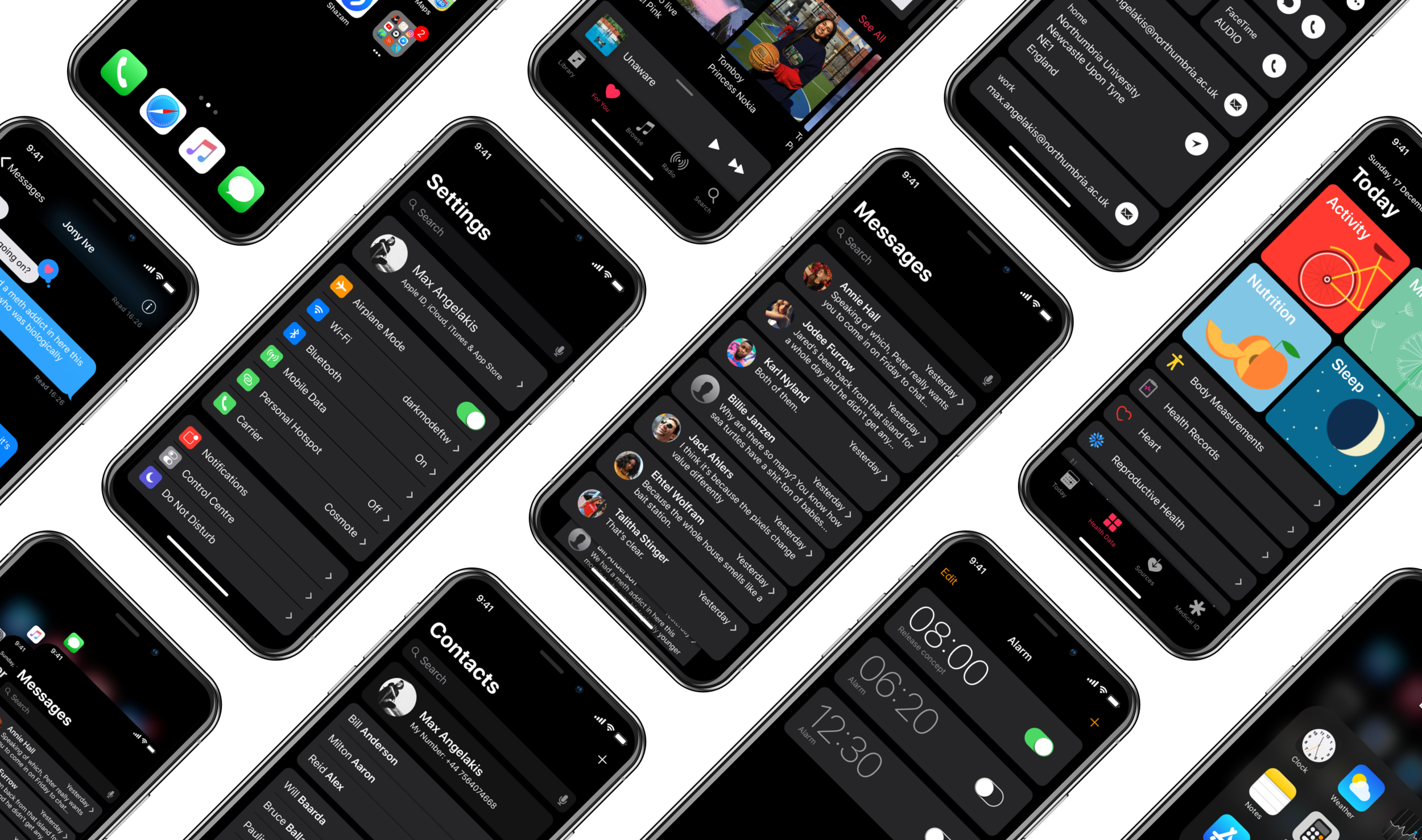 how to turn on dark mode iphone