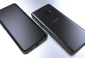 Retailverpakking toont specificaties Samsung Galaxy S9