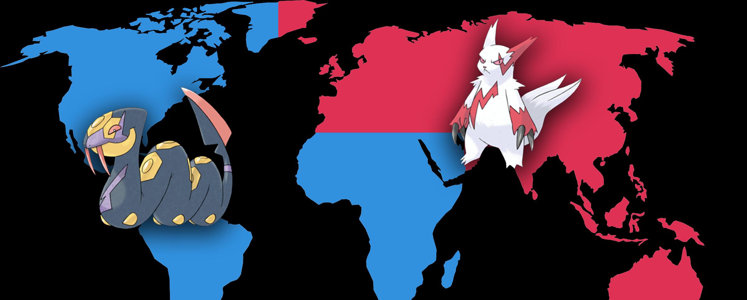 Zangoose en Seviper in Pokémon Go
