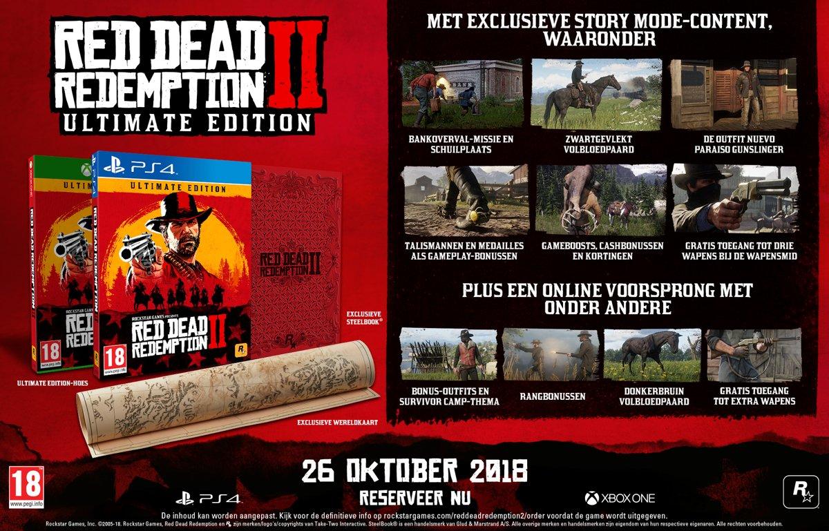 Red Dead Redemption 2 Pre Order Dit Zijn Alle Versies