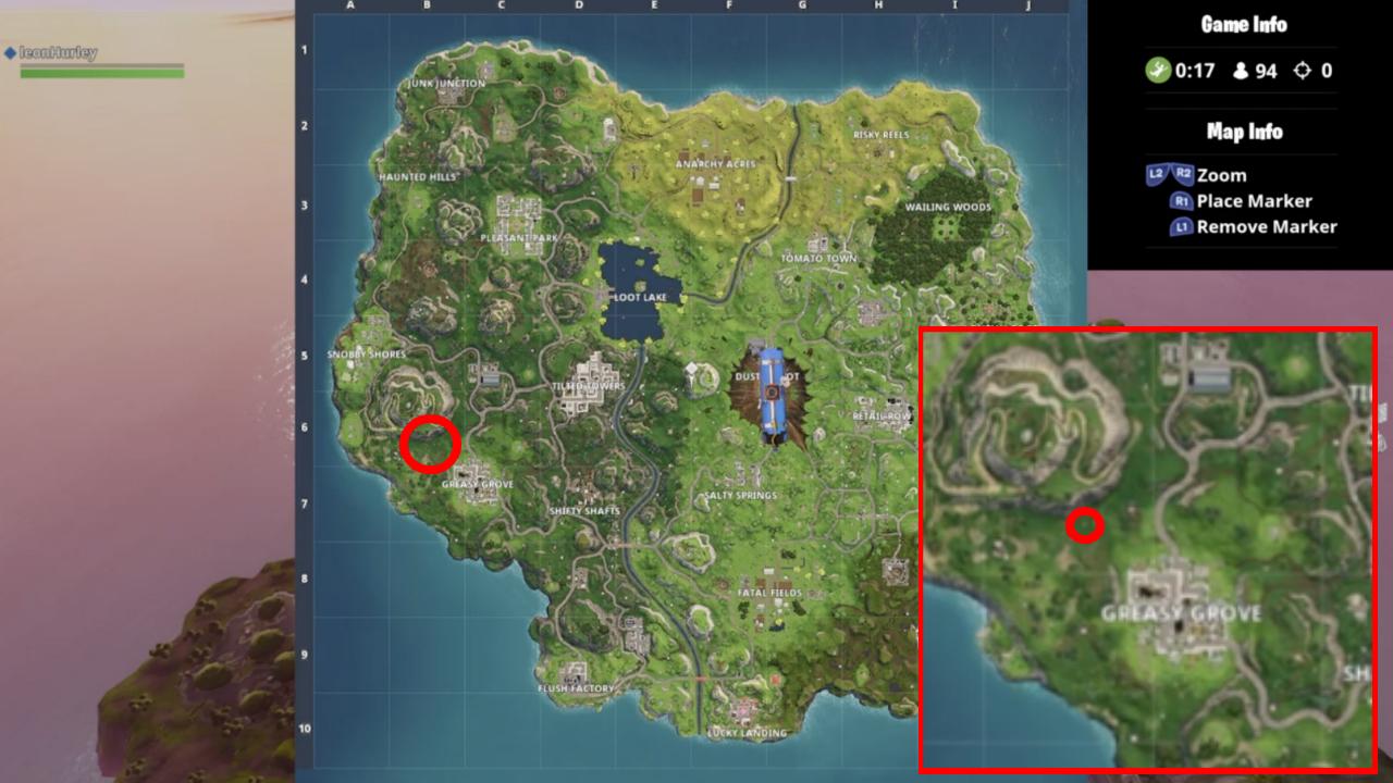 Fortnite Challenge: Locaties Playground, Campsite En Een