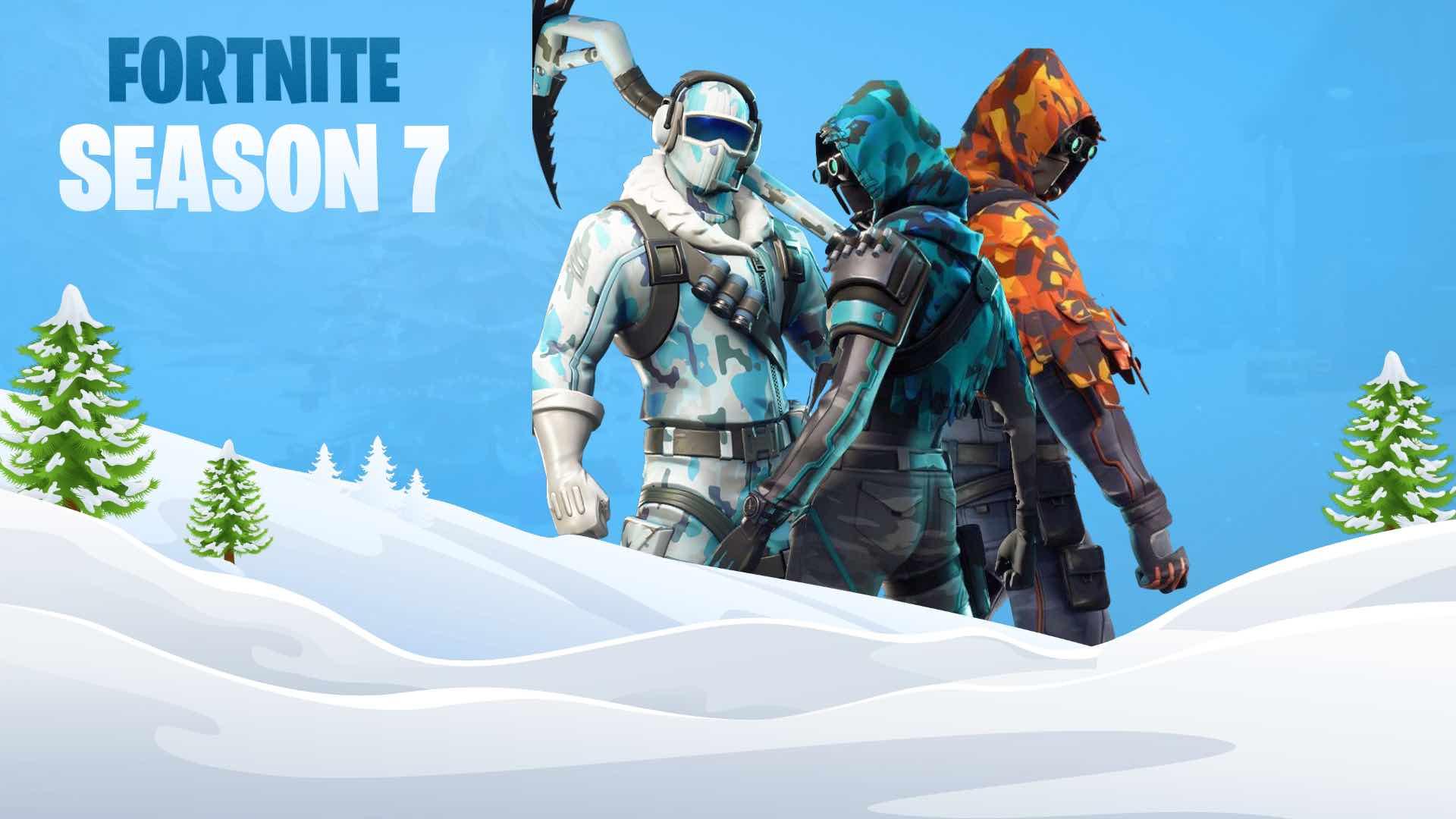 Fortnite Season 7 Starttijd Sneeuwstorm Ijsberg En Meer