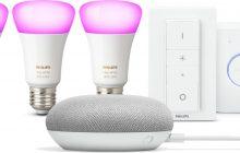 Bol.com Dagdeal: Philips Hue Starterkit met Google Home Mini voor €149