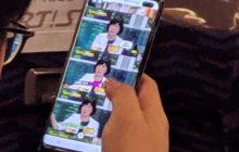 Foto toont Samsung Galaxy S10+ of S10 X in het wild