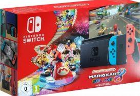 Nintendo Switch (2019) met Mario Kart 8 Deluxe in de aanbieding voor €315