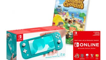 Aanbieding: Nintendo Switch Lite met Animal Crossing: New Horizons en Switch Online voor €209 bij MediaMarkt